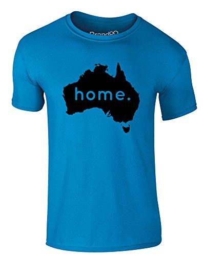 Brand88 - Home: Australia, Erwachsene Gedrucktes T-Shirt Azurblau/Schwarz