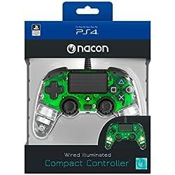 Nacon - Mando para PS4, Verde transparente
