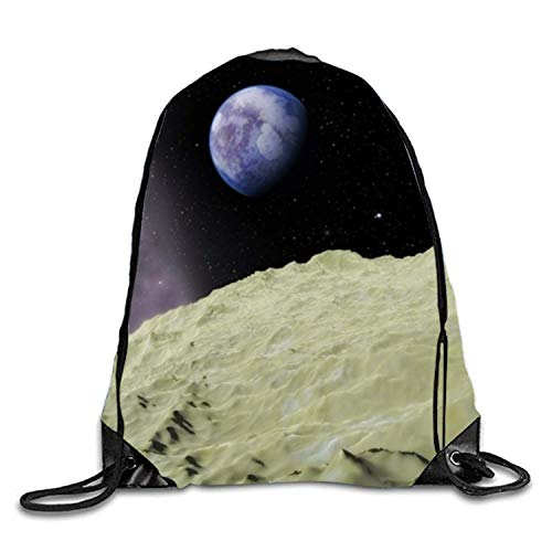 ucksäcke, View of Earth Drawstring Backpacks Cheap for Kids Party Favors Bags Gym Drawstring Bags View of earth10 Lightweight Unique 17x14 IN ()