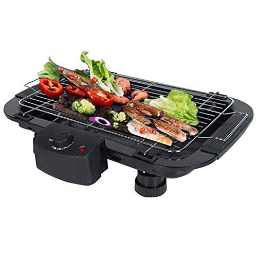 GroßEr Elektrischer Rauchloser Grill BBQ Indoor Barbecue, 2000W,Black (Elektrische Indoor Barbecue-grills)