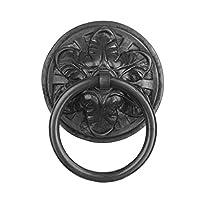 Ring Door Knocker,Brass Decorative Vintage Vintage Pull Door Handle-Black