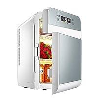 Double Door Car Refrigerator, Refrigerator Car Home Dual Use/Home Refrigeration Heating Medicine Insulin Refrigerated Freezing / 20L