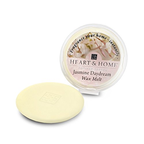 Heart & Home – à tartelette de cire de soja parfumée – à utiliser avec la cire fond et huile brûleurs (Jasmin)