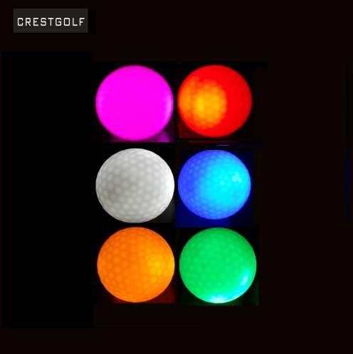 Crestgolf Leuchtender Golfball, mit blinkendem LED-Licht, erhältlich in 6 Farben, (red/blue/pink/green/orange/white)/6pcs