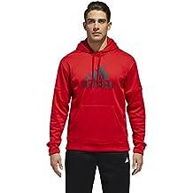 adidas Athletics Team - Sudadera con Capucha y Cremallera - DH9013, XXL, Escarlata