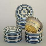 Unbekannt original französische wassergekühlte Keramik butterdose, Immer frische und streichfähige Butter, für ca 125 gr Butter, Bristol Z-K