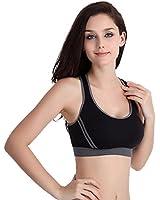 Internet Women Athletic Vest Padded Bra Gym Fitness Sports Yoga Tops Stretch