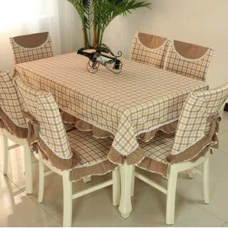 Home Hotel ESS-/Hochzeit Bestickt Stuhl Spitze Tischdecke Jacquard Floral Rechteckige Tischdecke Stoff zu Tabelle deckt, Schokolade, quadratisch 130 x 130 cm - Quadratische Schokolade Tischdecke