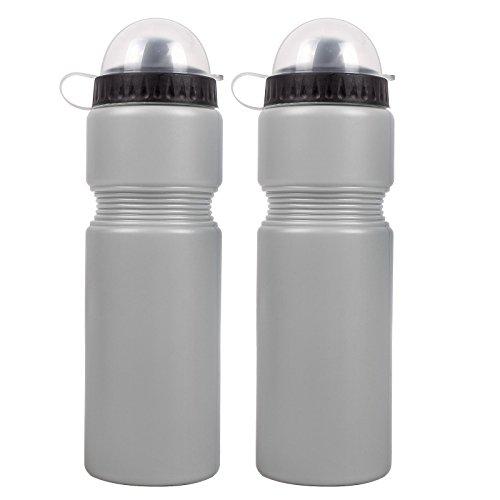 2x Bicycle Gear Trinkflasche 750 ml Kunststoff grau