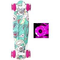 Wonnv LED Skateboard Complet Mini Cruiser 56cm