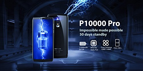 Blackview P10000 Pro Phone Octa Core CPU 4GB RAM Android 7 1 11000mAh Grey
