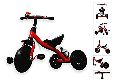 Velu Baby Kids Toddler Children Infant 3 Wheel Tricycle Trike Bike Scooter (Red)