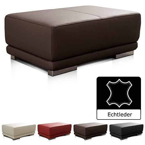 2-sitzer-leder Sitzbank (CAVADORE Lederhocker Corianne / Rechteckige Sitzbank in Echtleder / 103 x 41 x 69 / Echtleder dunkelbraun)