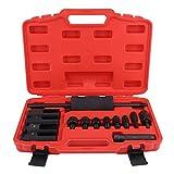 Injektor Abzieher 14 Stück Common Rail Injector Extractor Diesel Abzieher Set Injection Tool Kit mit einem roten Aufbewahrungskoffer