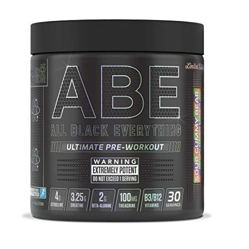 Applied Nutrition ABE All Black Everything Pre Workout Powder Energy, Physical Performance with Citrulline,...