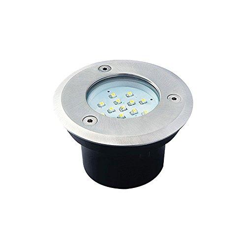 LED Design Boden Einbau Leuchte Edelstahl Grundstück Beleuchtung Kanlux 22050