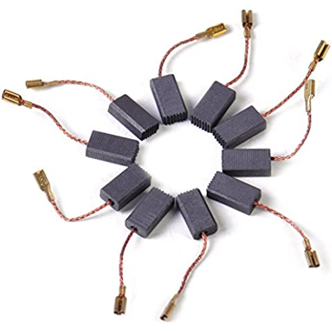 10pcs escobillas de carbono en forma de reemplazo para BOSCH GWS GWS 580 850 C GWS 7-115 8-125 GWS GWS GWS 6-100 9-150CS D11