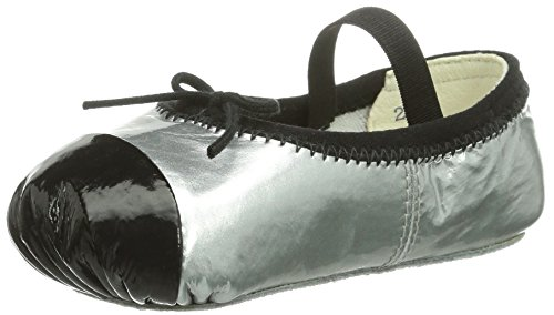 Bloch Luxury, Chaussures souples bébé fille Argent (Argento/Black)