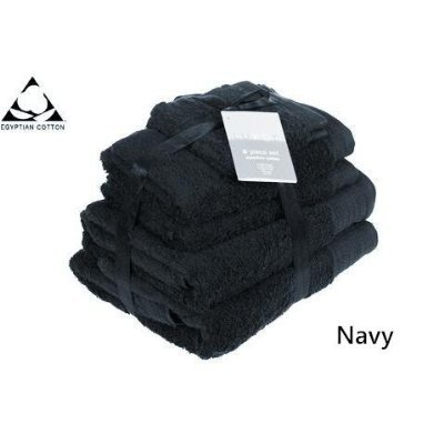 Pair of HUGE NAVY BLUE Prestige Egyptian Cotton Bath Towels