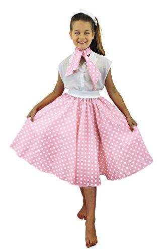Dirty Dancing Kostüm Baby (POLKA-DOT ROCK = FÜR KINDER = VON ILOVEFANCYDRESS®= IN 10 VERSCHIEDENEN FARBEN = DER ROCK HAT DEN UNGEFÄHREN HÜFTUMFANG VON 68cm + DIE LÄNGE VON UNGEFÄHR 62cm = DAS PERFEKTE)