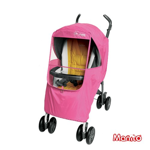 [Manito] Elegance+ stroller weather shield Rain Cover (Pink)