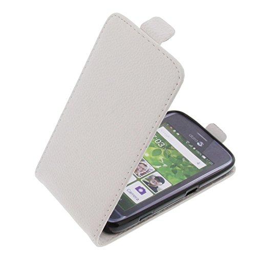 foto-kontor Tasche für Doro Liberto 820 Mini Smartphone Flipstyle Schutz Hülle weiß