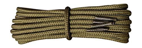 Starke Oliv Schnürsenkell - 4 mm rund - Längen 160 cm - ideal für Wanderschuhe Dr Martens -