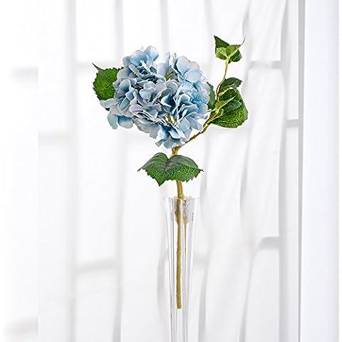 ShiQi Fiori artificiali 1 Corto spara con boccioli sfera Soggiorno disposizione blu per la festa di nozze decorazione per banchetti
