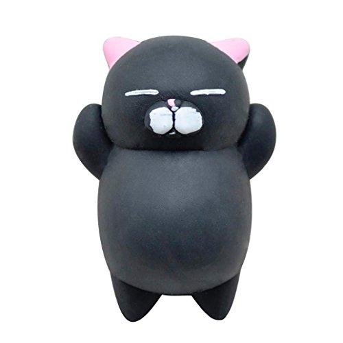 Squeeze Spielzeug, Hansee Nette Mochi Squishy Katze Squeeze Healing Spaß Kinder Kawaii Spielzeug Stressabbau Decor (Schwarz) (1 Hund Unter Spielzeug Billig)