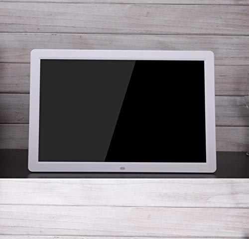SMDFDN 17-Zoll-Neue Ultra-schmale Seite HD Werbung Maschine Video Maschine digitaler Fotorahmen elektronisches Album (Color : White)