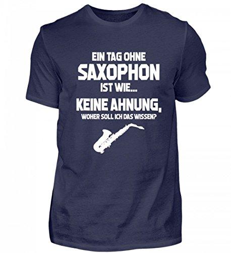 Tag ohne Saxophon? Unmöglich! - Geschenk Saxophonist-in Saxophonspieler-in - Herren Shirt