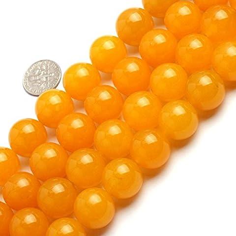 Sweet & Happy Girl'S Store 16mm Round Gemstone Yellow Jade Beads Strand 15 Inch Jewellery Making
