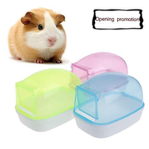 FURU Hamster Badezimmer Sauna Raum für Kleine Tiere Kaninchen Chinchilla, Käfig Supplies House