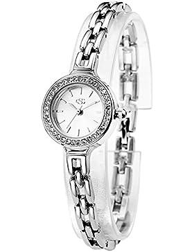 George Smith 22mm Österreichische Kristall Zifferblatt Damen Armbanduhr mit Edelstahl Armband