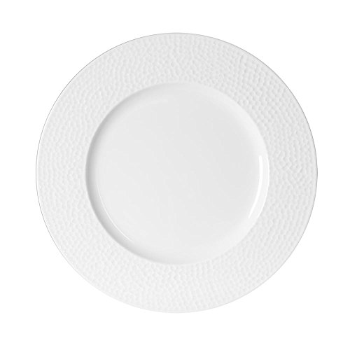 TABLE PASSION - ASSIETTE PLATE 27 CM LOUNA RELIEF BLANC (Lot de 6)