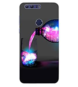 ColourCraft Glass and Bottle Design Back Case Cover for HUAWEI HONOR 8