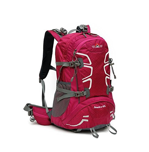 Un nuovo giorno viaggio zaino impermeabile unisex outdoor alpinismo borsa pioggia copertina sport tempo libero turismo capacità 40L , red Red