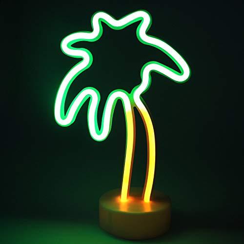 XIYUNTE Neonlicht Zeichen - Kokosnussbaum Leuchtschilder Zimmer Dekor Lampe Licht Kokosnussbaum Zeichen geformt Dekor Licht Schlummerleuchten für Weihnachten, Geburtstagsfeier - Neon-licht Zeichen