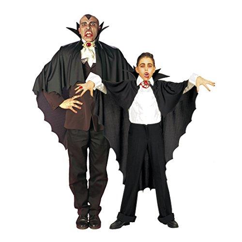 NET TOYS Halloween Vampirumhang für Kinder Dracula Vampir Kostüm Cape Umhang (Vampir Kostüme Für Halloween Für Kinder)