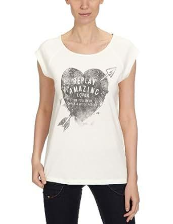 Replay W3274 Women's T-Shirt Wool White X-Small