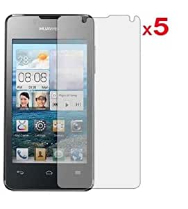 5 in 1 (Pack of 5) LCD Screen Protector/ Cover/ Guard /Film Includes Cleaning Cloth For Huawei Ascend Y300