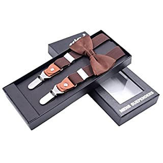 Zoylink Herren Suspender, Y ZurüCk Suspender Modischer Metall Verstellbarer Clip Suspender Elastischer Suspender Mit Querbinder
