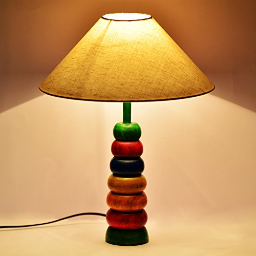 ExclusiveLane Multicolored Hoopla Table Lamp In Steam Beach Wood