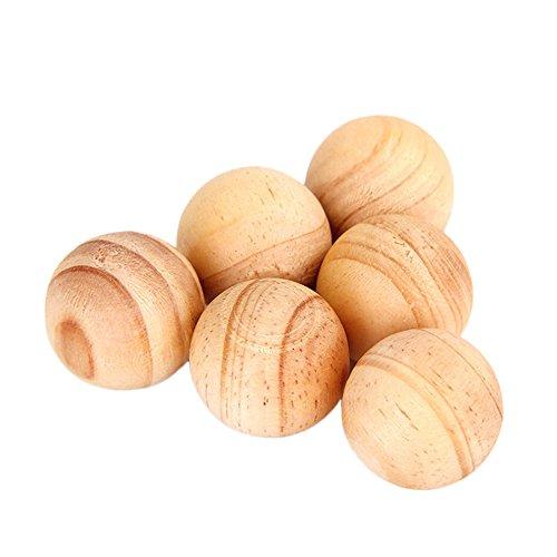 Foto de Kicode Alcanfor natural Repelente de Polilla de 5 piezas Bolas de madera Aromático No tóxico Repeler las plagas Para ambientador de closet