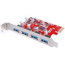 Inateck KT4004 - Tarjeta de expansión con 4 puertos para USB 3.0