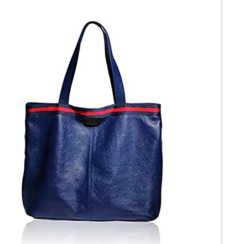 Borse spalla bag borsa da donna in pelle grande , treasure blue