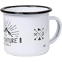 The Adventure Begins - Hochwertige Emaille Tasse mit Outdoor Design, leicht und bruchsicher, für Camping und Trekking - von tassenWERK.com