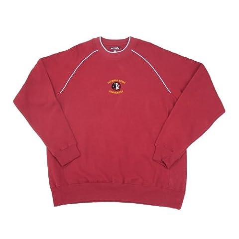 NCAA Florida State University inspiriert Fleece Long Sleeve Crewneck Pullover, Herren, grau