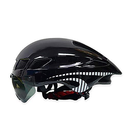 LPC Fahrradhelm Abnehmbare Brille Für Frauen Männer, Fahrrad Berg Und Rennrad Helme Für Erwachsene Sicherheit Und Atmung Mode (Farbe : Black White)
