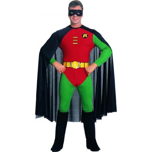 KULTFAKTOR GmbH Robin-Kostüm aus Batman-Film für Erwachsene - grün-rot-schwarz L